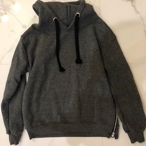Grey Hoodie with Zipper on the side Size: S
